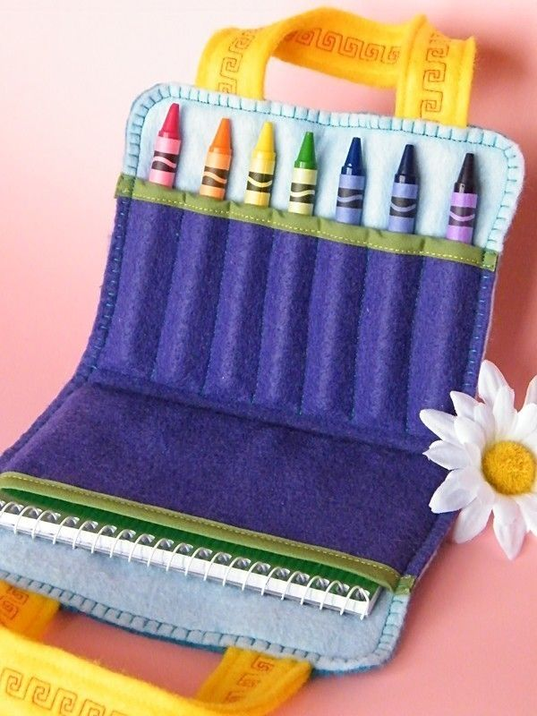Mini Art Case - Roy G. Biv Tote - Crayons and Note/Drawing Pad INCLUDED
