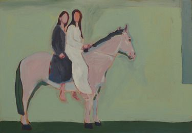 "Saatchi Online Artist Janusz Gałuszka; Painting, ""horse with two models"" #art"