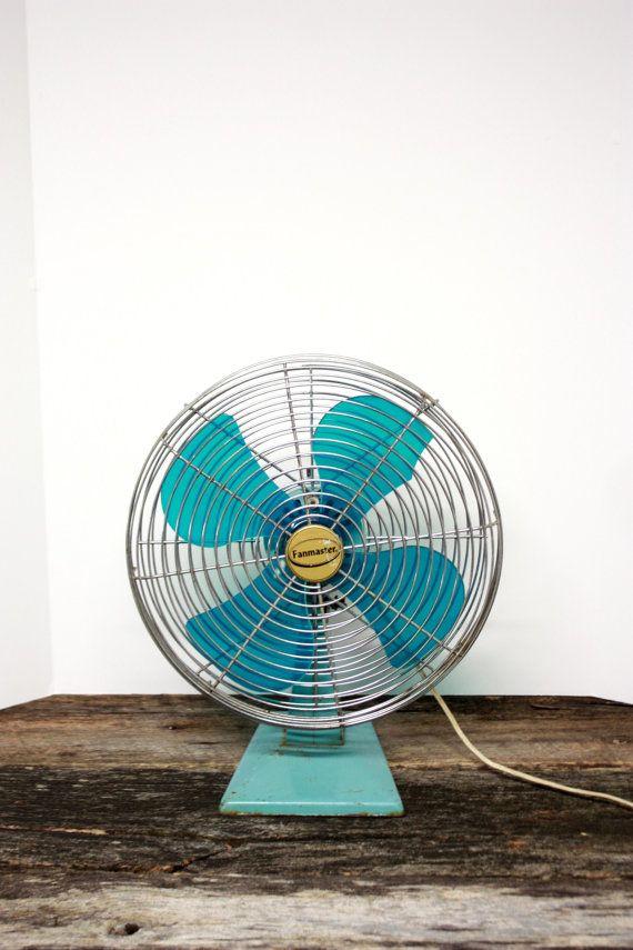 Vintage Electric Fanmaster Fan Teal Electric Fan by Bresworld, $30.00