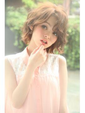 ダミアバイルル DAMIA by LuLu◎パーマで可愛く★くせ毛をいかした外国人風ミディアムボブ