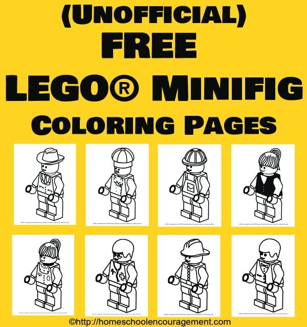 8 adorable town minifigs will make your LEGO® fan very happy! Print, color, play. #lego
