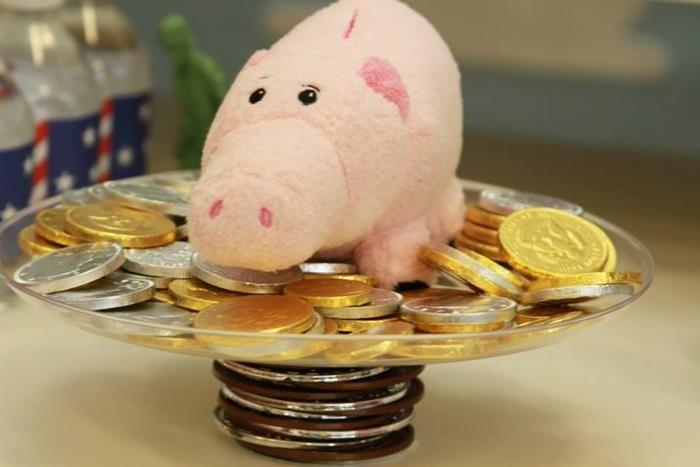 mesa de dulces- monedas de chocolate