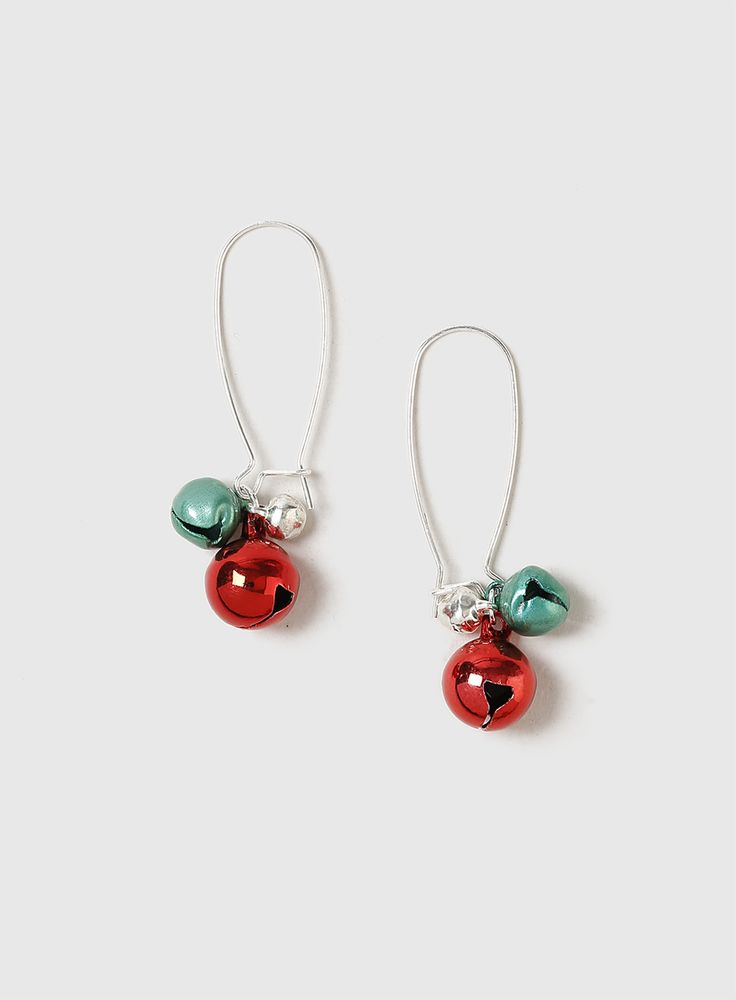 J2017  Multi Coloured Christmas Ball Earrings