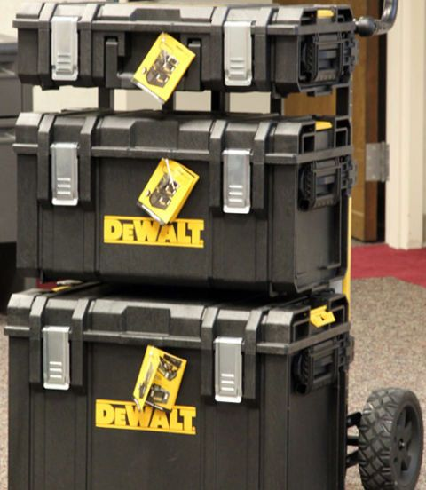 DeWalt's power tool kit boxes have been pretty decent in recent years, but my heart skipped a beat when I first laid eyes on the new ToughSystem modular tool boxes. Everything about the storage system looked to be designed for punishment. There's a robust 4-mm-thick structural foam casing, multiple carry options with spring-loaded side handles and strong overbuilt latches. The boxes can stack together or slide onto a customizable carrier cart. A weather seal helps keeps tools dry and safe…