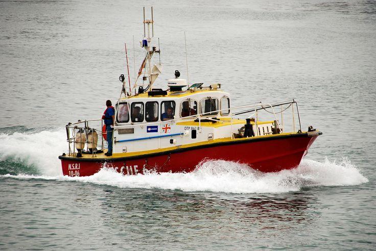 A NSRI boat in the harbour, Port Elisabeth, South Africa.