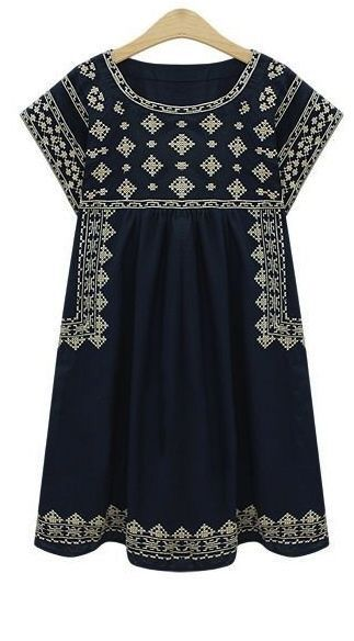 #stitchfix @stitchfix stitch fix https://www.stitchfix.com/referral/3590654 Stitch fix spring fashion trends 2016 Navy embroidered shift dress