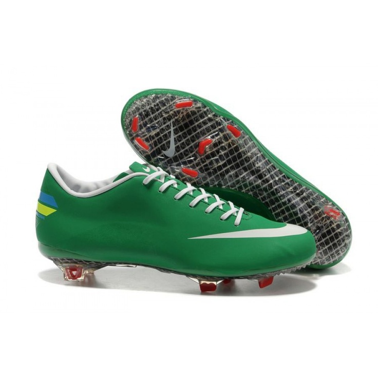 nike soccers shoes red green