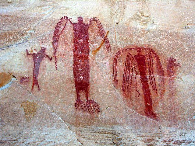 Ángeles de la lluvia, San Rafael Swell, Utah. 4000-5000 años de antigüedad.