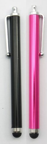 GREAT DEALS SHOP, 2x Black And Pink, High Quality HQ, HIGH CAPACITIVE STYLUS TOUCH PENS FOR IPAD 1, IPAD 2 New Apple iPad  iPad 3, ipad 4, ipad mini, Apple iPhone 5 5th 5G, IPHONE 4 4S, IPHONE 3GS, IPOD TOUCH 3, IPOD TOUCH 4, SAMSUNG GALAXY TAB2 10.1 SAMSUNG GALAXY S3 i9300, SAMSUNG GALAXY S2 i9100, SAMSUNG GALAXY ACE S5830, HTC, Tablet pc, Asus Tablets, Advent, Samsung Galaxy, Blackberry Playbook  Phones, Smart phones, Android, Mobile Phones, PC, Nokia, LG, Sony Er