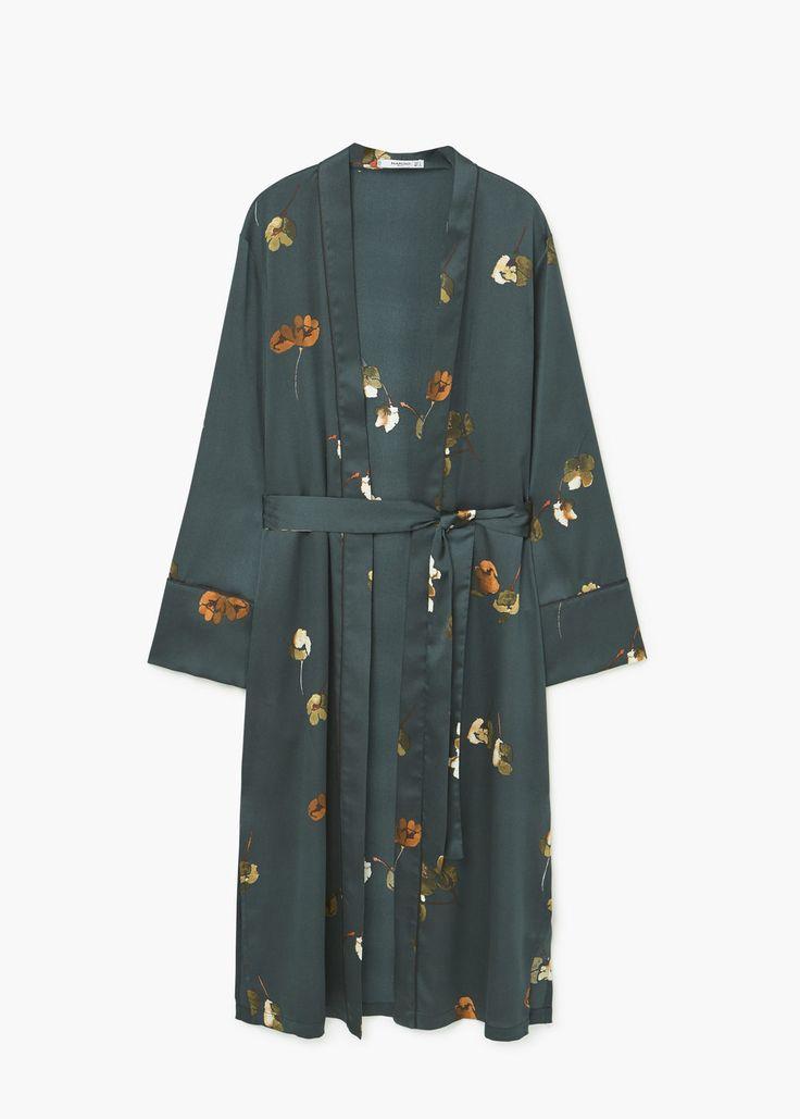 Printed robe | MANGO