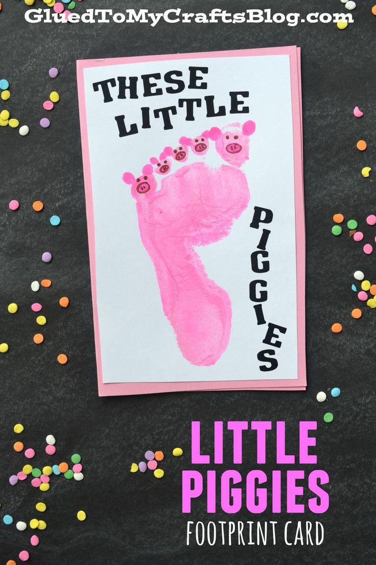 Little Piggies Footprint Card Keepsake Keepsakes