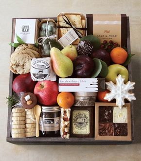 """Featured on The Pursuitist.com: """"Gourmet Gift Crates from Winston Flowers: An Ultra Luxurious Last Minute Gift""""."""