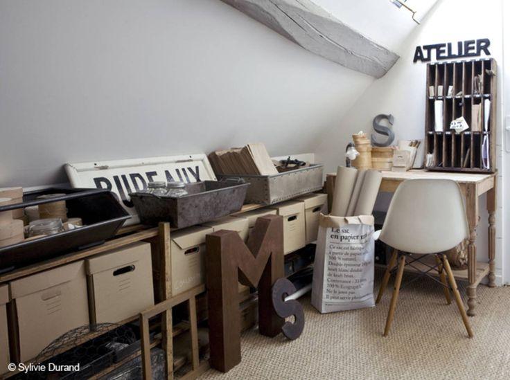 Un atelier d'artiste sous les combles
