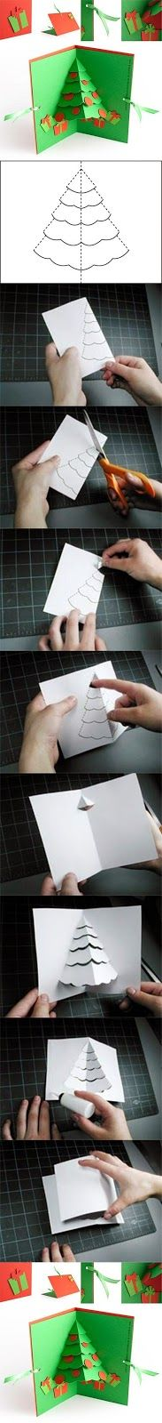 Árbol de Navidad DIY Pop Up Card