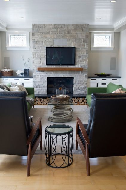 "The clients' style is ""traditional with a funky edge,"" says Reay, of LemonTree & Co. Interiors. They love midcentury modern pieces, and Reay..."