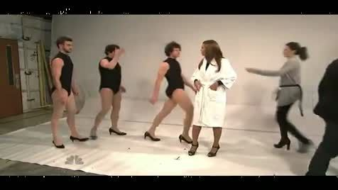 Saturday night live Beyonce dancing on Single ladies with Andy Samberg and Justin Timberlake... one of my favorites of all time.