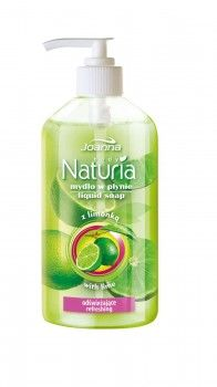 Mydło w płynie odświeżające z limonką Naturia body. Skóra jest oczyszczona, nawilżona, gładka w dotyku i przyjemnie pachnąca.