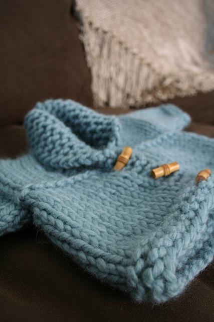 Hand knitted baby sweater, Rowan yarn