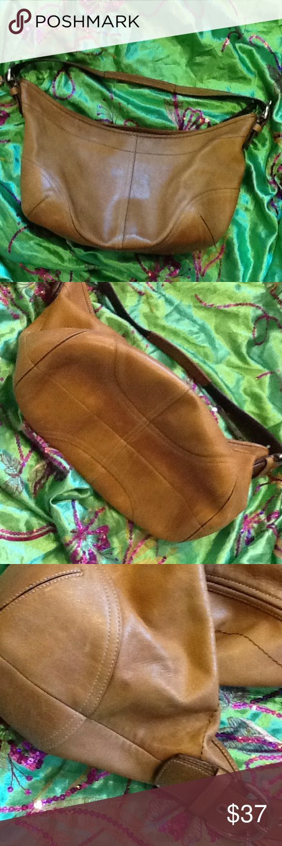 "Love me ""As Is"" Hobo shoulder bag, gently use on outside, pen stains inside see pic 4. Coach Bags Hobos"