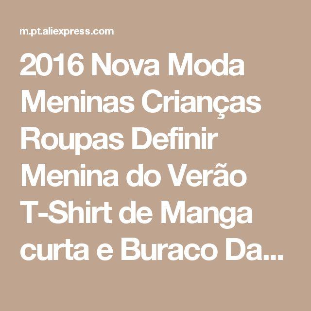 2016 Nova Moda Meninas Crianças Roupas Definir Menina do Verão T-Shirt de Manga curta e Buraco Da Calça Leggings 2 PCS Outfit Crianças conjunto Loja Online | aliexpress móvel