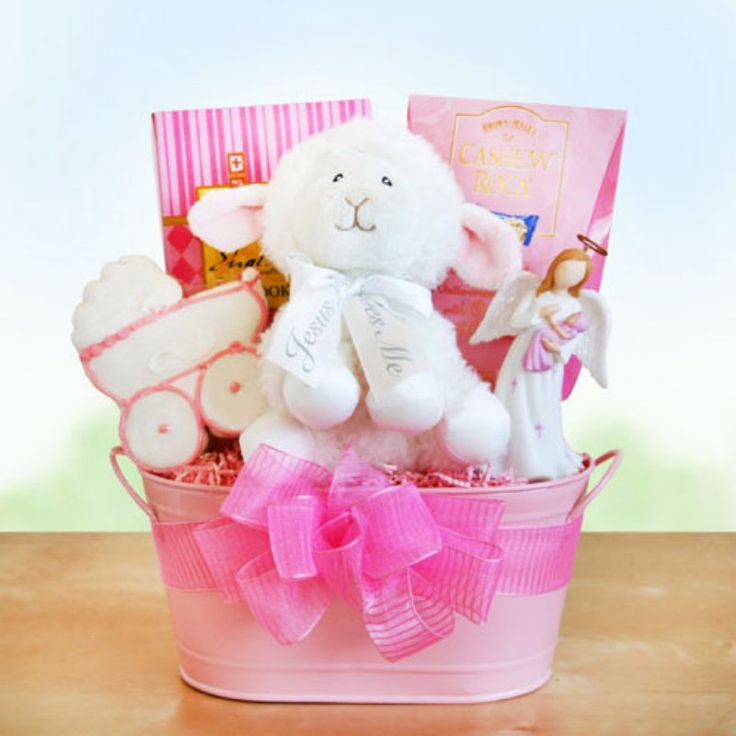 Girl's Christening Blessings Gift Basket - 7947