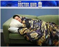 Wish | Limited Doctor Who Dr TARDIS Police Box Throw Blanket Big Bomb Carpet Xmas Gift