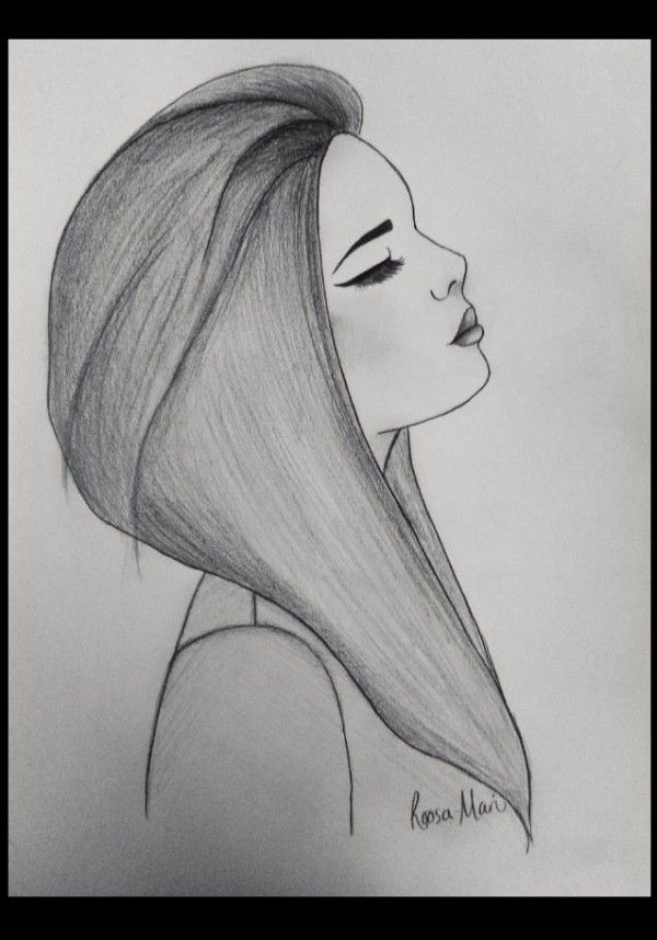 Sad Girl - drawing by Roosa Mari. Credit due to website InspireLeads.                                                                                                                                                                                 More
