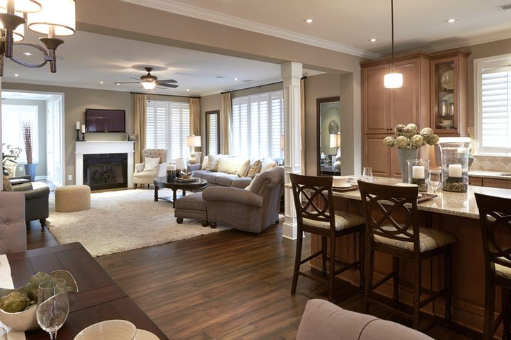 Top 25 ideas about open floor plan decorating on pinterest for Carolina plan room