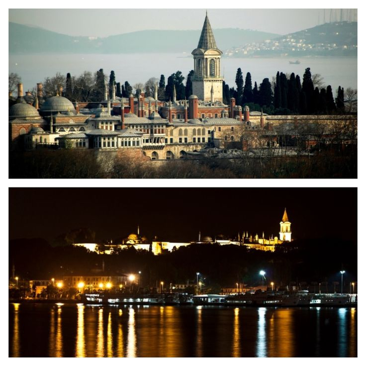 Topkapi Palace Istanbul by day and by night