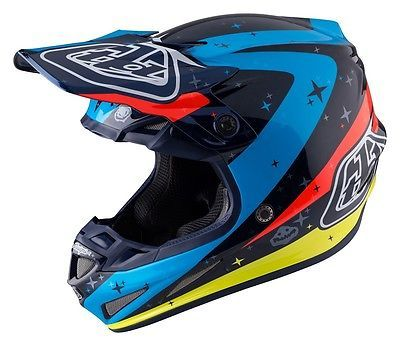 Troy Lee Designs 2017 Carbon Mips Helmet Twilight Navy Adult Size S
