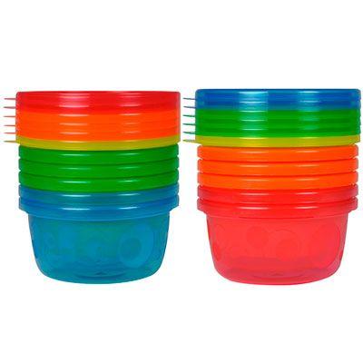 Tomy Lot de 7 bols de conservation 236 ml passe au frigo congélo micro-ondes et lave-vaisselles!