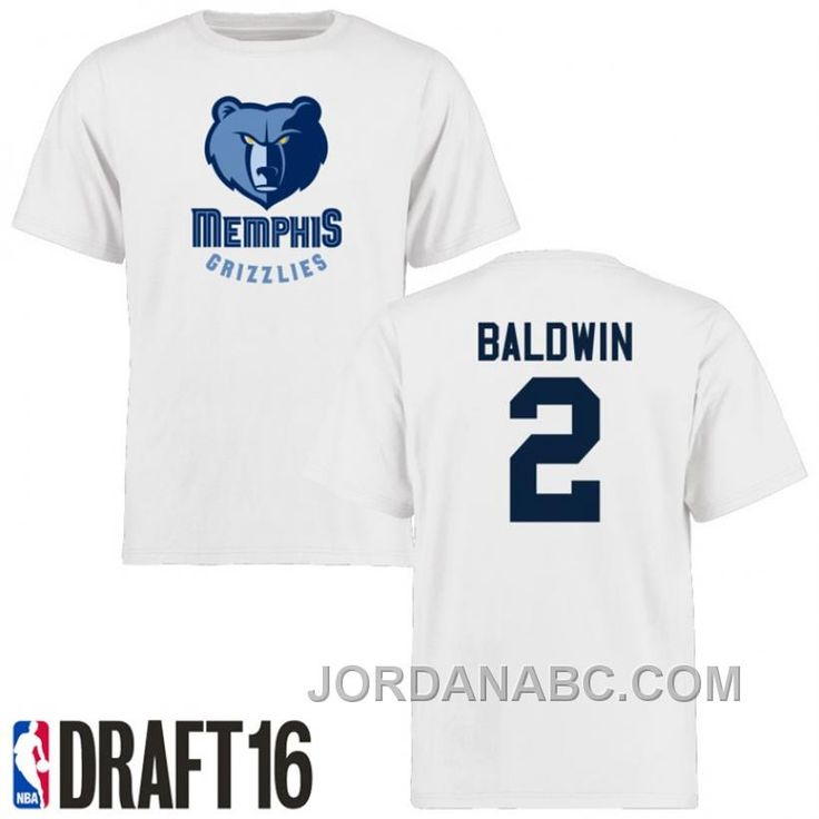http://www.jordanabc.com/wade-baldwin-memphis-grizzlies-2-2016-nba-draft-pick-name-number-white-tshirt-on-sale.html WADE BALDWIN MEMPHIS GRIZZLIES #2 2016 NBA DRAFT PICK NAME & NUMBER WHITE T-SHIRT ON SALE Only $50.00 , Free Shipping!