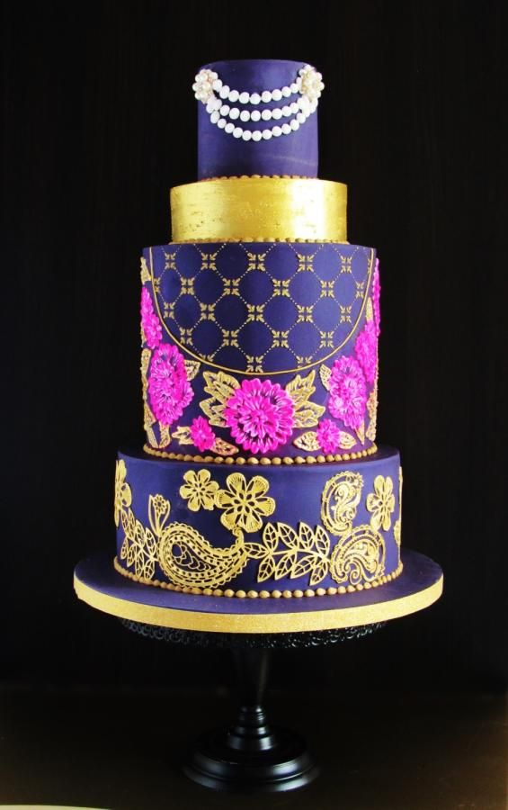 Indian Wedding Cake - Incredible India - An International Cake Collaboration by Sylwia Jozwiak