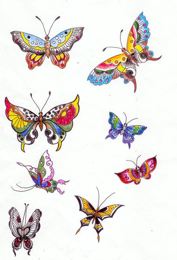 butterfly - Butterflies To Color 2