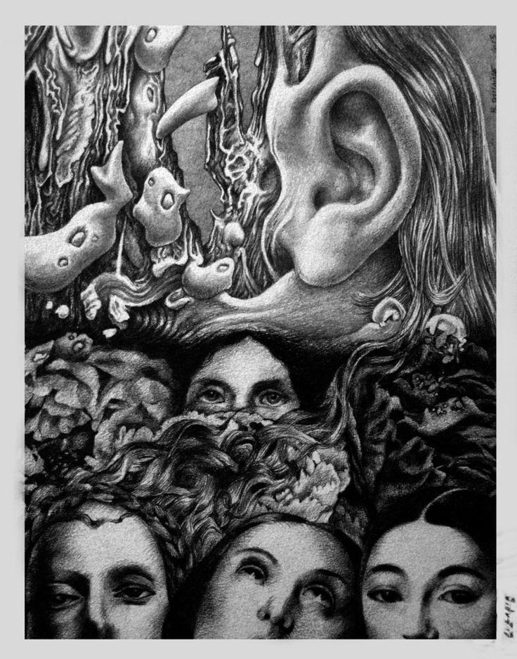 Bernard Dumaine. Exquisite Corpse with Osler ladia #2, 2013. Pencils on paper.