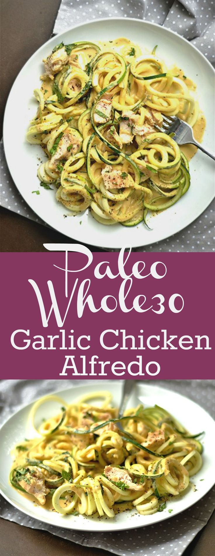 EASY and healthy way to make Chicken Alfredo with a creamy drool worthy sauce.