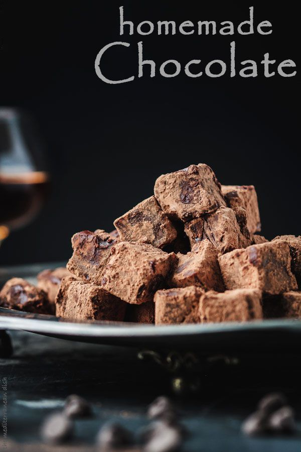 Homemade Chocolate with Champagne and Brandy. These boozed melt-in-your-mouth chocolates are a MUST TRY. The ultimate chocolate experience right at home. Get the step-by-step today at The Mediterranean Dish! http://www.themediterraneandish.com/homemade-ch