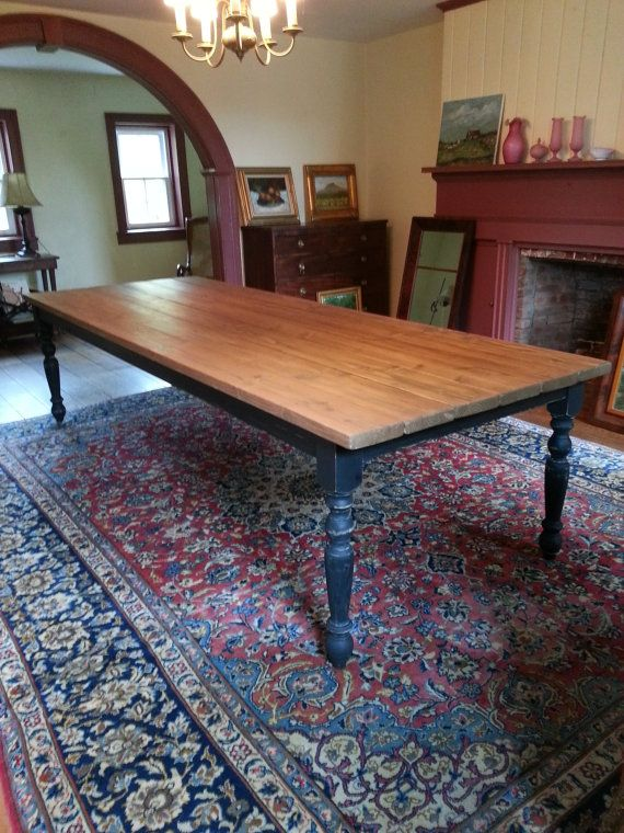 Large Rustic Farm Table by CustomTimberHF on Etsy, $980.00