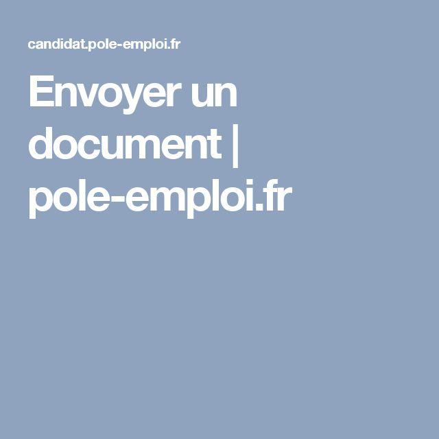Envoyer un document | pole-emploi.fr