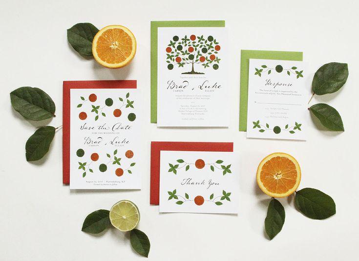 Osage Orange Tree Wedding Invitation Suite