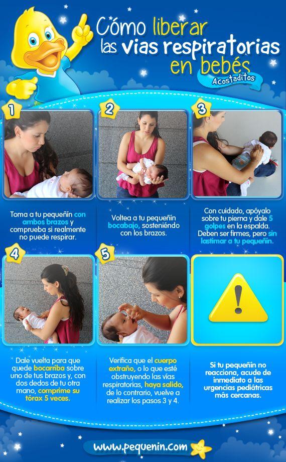 Si tu pequeñín es menor de 1 año, este es el procedimiento que debes hacer en casa si se atraganta con objetos o comida.