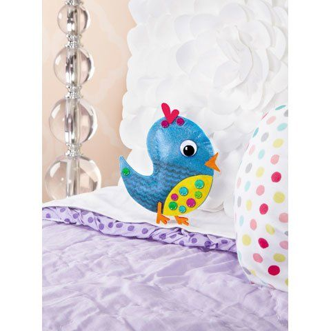 Blue Bird Mini Felt Pillow Puffs Kit | No-Sew DIY crafts for kids | Todo Papel | Color Lace Paper Doilies & Pretty Stationery