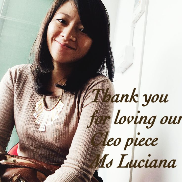 Spotted Ms Luciana with our Cleo Piece looking radiant. Thank you for loving our piece.