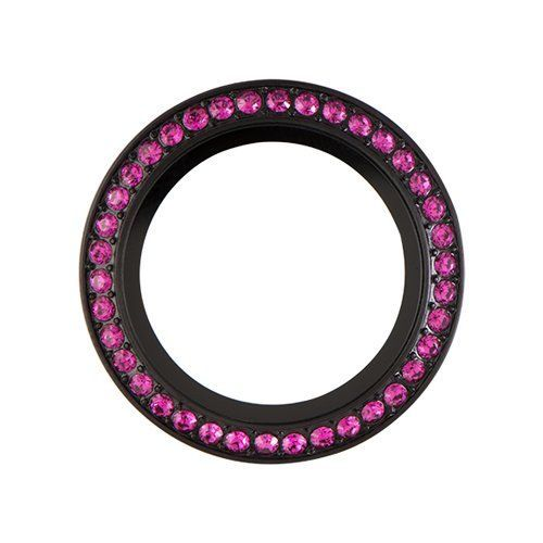 Origami Owl ~ MEDIUM BLACK TWIST LIVING LOCKET FACE WITH FUCHSIA SWAROVSKI CRYSTALS - LIMITED EDITION >>> Check out the image by visiting the link.