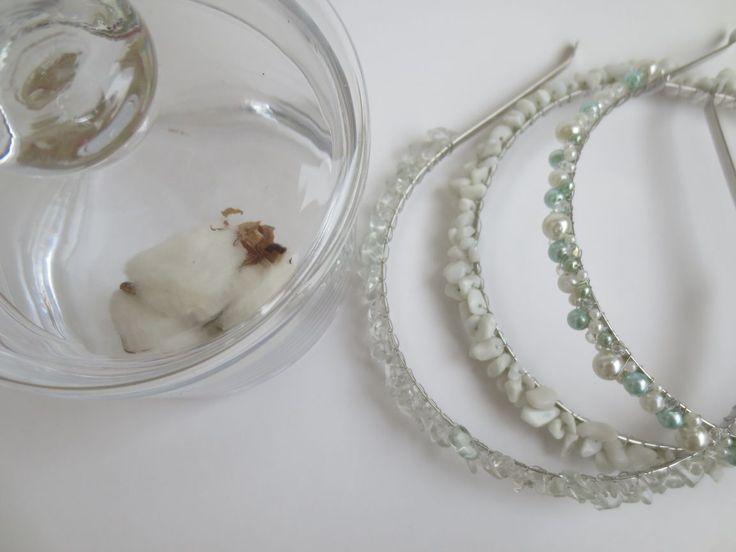 Купить Нежные свадебные ободки - свадьба, нежность, невеста, ободок, фата, горный хрусталь, кварц