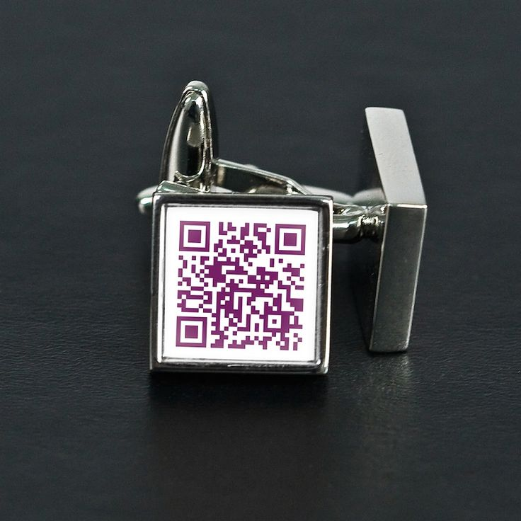 Everyone wants to know what the secret message is with these QR code cufflinks. These are a very creative way to say your special message only to be revealed when scanned with a QR code reader. Now all you have to do is think up a creative message, maybe a poem, a date to remember or just a funny message only to be revealed when scanned.