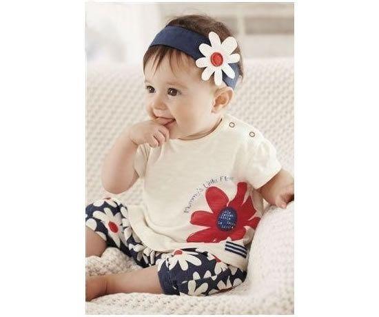 Lindo kid de bebe Tshirt, Diadema y Pantalón Precio: $39.000 Tamaño: 10 a 24 meses