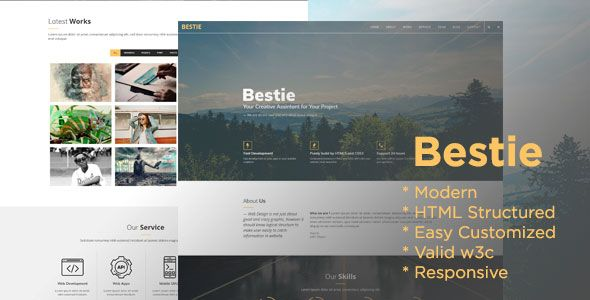 Bestie Agency is a One Page Creative Agency HTML template with a modern design and clean code. This template have some effect, so user who see this template will take a focus on its content. This template also have good HTML structure, so you can optimize your SEO Things for your current business. Template is easy to edit and change the image.