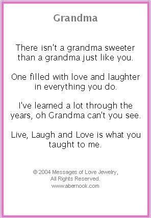grandma poems | Grandmother Bracelet, Grandma Poem Jewelry: