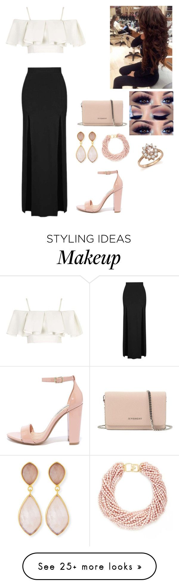 """Pageant meeting"" by mckenziestripling on Polyvore featuring Topshop, Steve Madden, Givenchy, Kenneth Jay Lane, Dina Mackney and Bloomingdale's"
